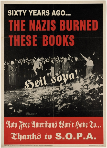 Nazi burning books in Germany 1930's