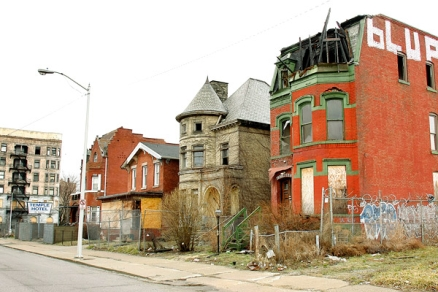 run down detroit buildings homes 2008 - 2016 depression