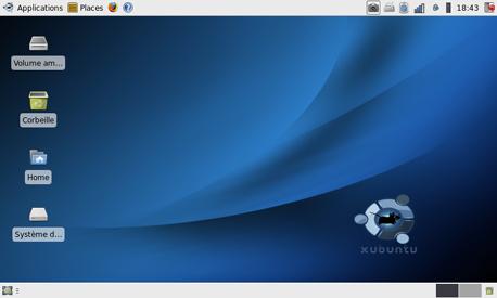 Xubuntu 8.10 intrepid ibex default desktop