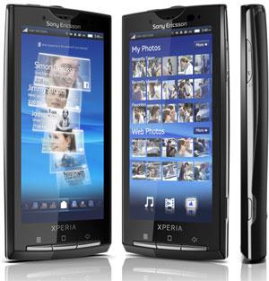 Sony Ericsson Xperia x10 Android smartphone