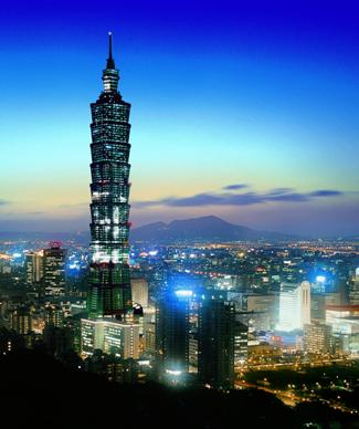 Taiwan guide, taipei 101 light up colors