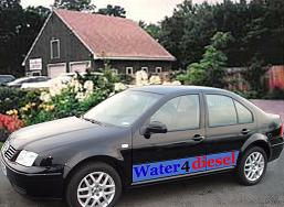 Run for gas or diesel car with water, increase mileage