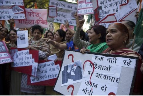 Protest-against-rape-problem-in-Delhi-India